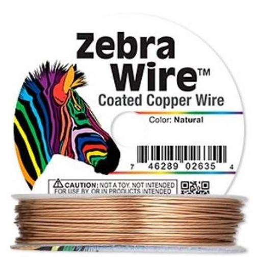 1 x reel of Zebra Wire round - 24 guage (71 yards, 65metres) Copper