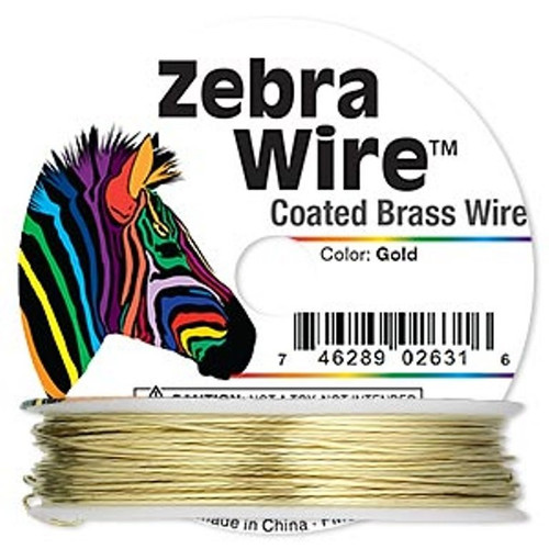 1 x reel of Zebra Wire round - 24 guage (71 yards, 65metres) Gold