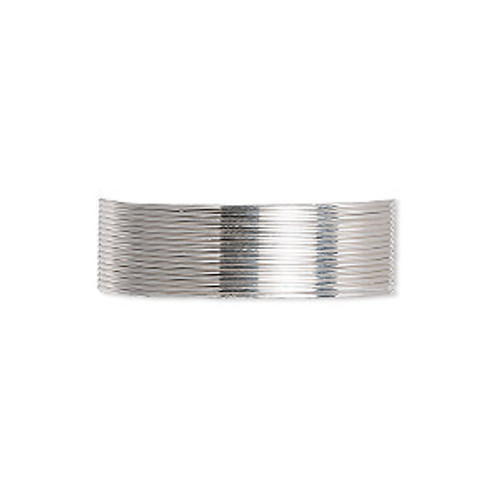 Wire, sterling silver, dead-soft, round, 24 gauge. Sold per pkg of 5-feet.