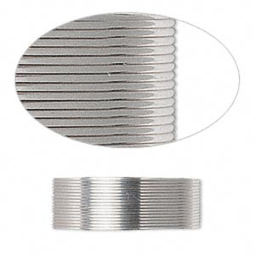 Wire, sterling silver, full-hard, half-round, 24 gauge. Sold per pkg of 5 feet.