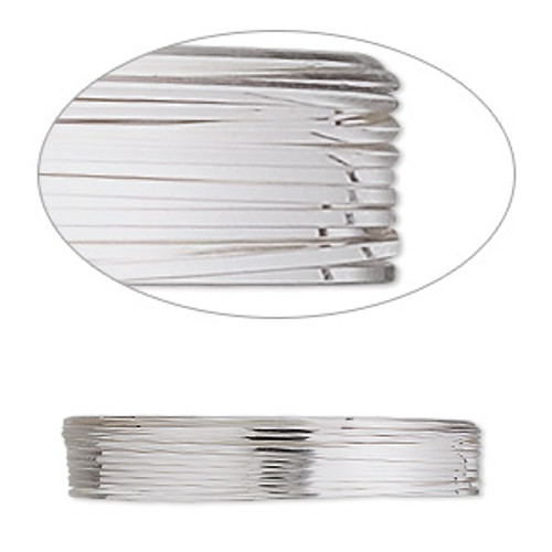 Wire, stainless steel, soft, square, 24 gauge. Sold per pkg of 10 meters.