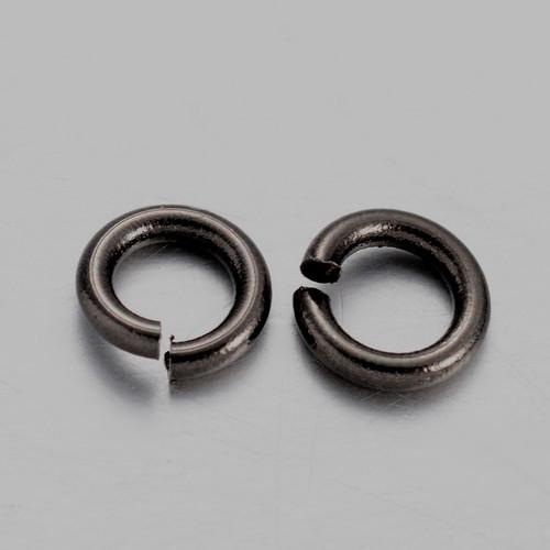 Brass Open Jump Rings, Gunmetal, 6x1mm;  4mm I.D. (10gms - approx 100)