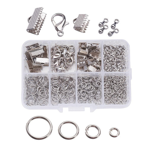 1 Box of matching Jewelry Findings Platinum