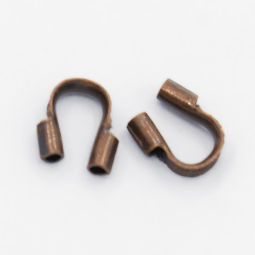 5gms Brass Wire Guardian and Protectors, Red Copper Color, 4mm x 5mm , hole: 0.5mm (approx 150)