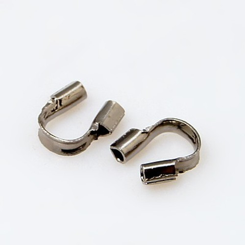 5gms Brass Wire Guardian and Protectors, Gunmetal Color, 4mm x 5mm , hole: 0.5mm (approx 150)