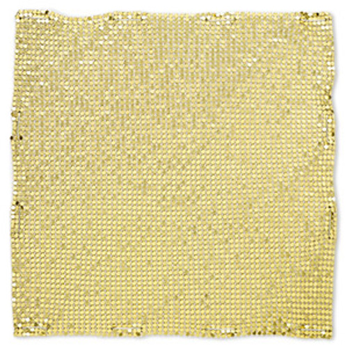 Sequin sheet, anodized aluminum, Gold, 8-inch single-sided square with 3mm sequins, 1.5mm thick. Sold individually.