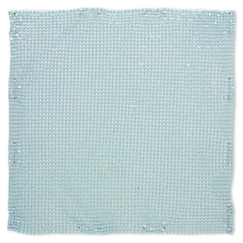 Sequin sheet, anodized aluminum, Light Turquoise, 8-inch single-sided square with 3mm sequins, 1.5mm thick. Sold individually.