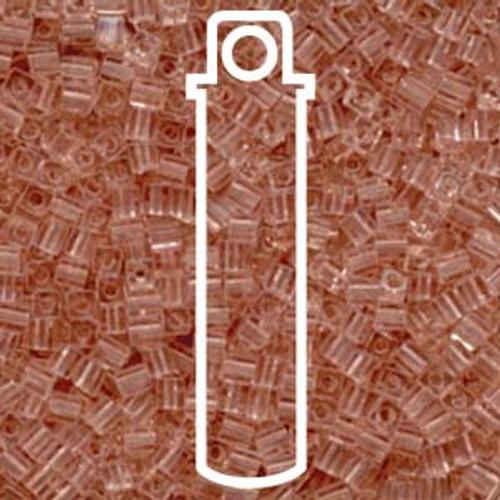 Transparent Light Tea Rose Miyuki 3mm Cubes Apprx 20gm (420 beads) - SB3-155