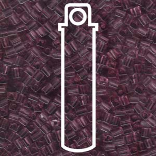 Transparent Light Amethyst Miyuki 3mm Cubes Apprx 20gm (420 beads) - SB3-142