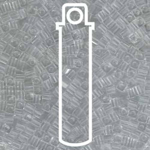 Crystal Clear Miyuki 3mm Cubes Apprx 20gm (420 beads) - SB3-131