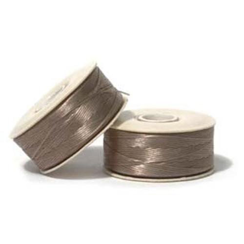 Thread, Nymo®, nylon. 1 x Bobbin Size D - 64yds Sand Ash
