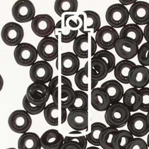 Czech O Beads 3.8mm x 1mm - 8.1gm Vial Jet  (Approx 250 beads)