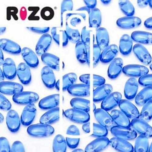 RZ256-30070 Preciosa Czech Rizo Beads 2.5mm x 6mm - 22gms - Sapphire
