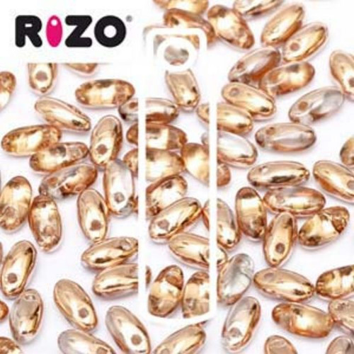 RZ256-00030-27101 Preciosa Czech Rizo Beads 2.5mm x 6mm - 22gms - Capri Gold