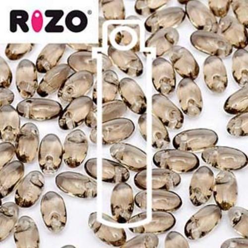 RZ256-40010 Preciosa Czech Rizo Beads 2.5mm x 6mm - 22gms - Black Diamond