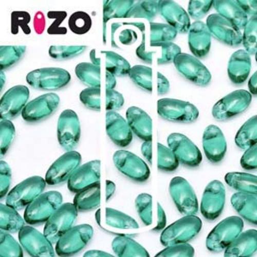 RZ256-50730 Preciosa Czech Rizo Beads 2.5mm x 6mm - 22gms - Emerald