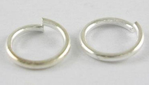 Silver Round Jump ring  8mm x 1mm thick (10gms) (approx 70 rings)