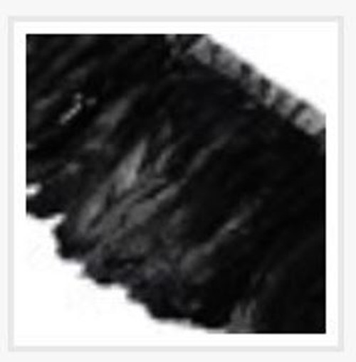 Fashion Goose Feather, Costume Accessory, Black, 100-180mm x 38-62mm; about 2m/bag