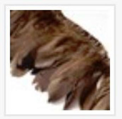 Fashion Goose Feather, Costume Accessory, Brown, 100-180mm x 38-62mm; about 2m/bag