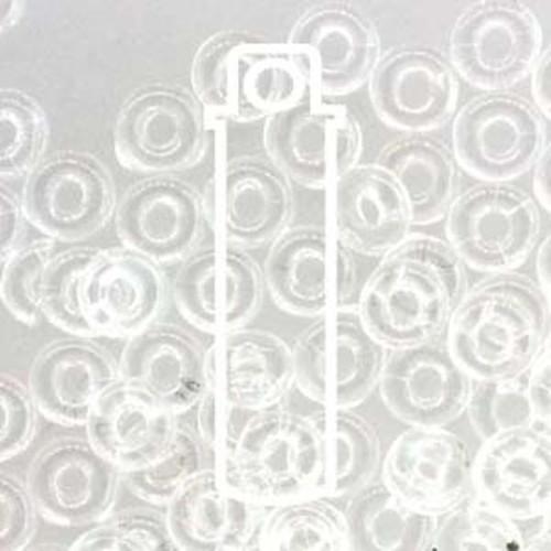 Czech O Beads 3.8mm x 1mm - 8.1gm Vial Crystal  (Approx 250 beads)