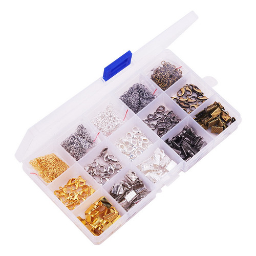 Basic mixed box findings for Jewelry Making, About 1400 Pcs/boc