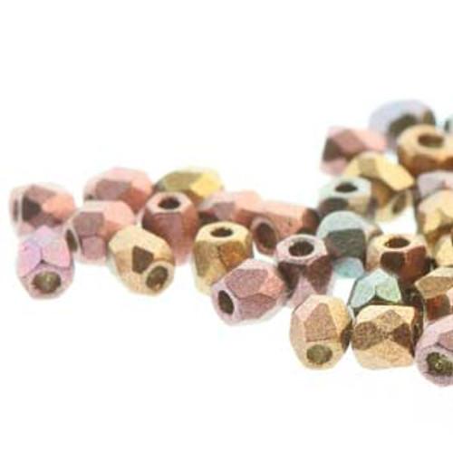 FPR0200030-01640 - TRUE 2 - Violet Rainbow - 100pcs - Czech Fire Polished beads