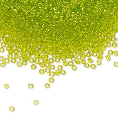 TR-11-4 - 11/0 - TOHO BEADS® - Transparent Lime Green - 7.5gms - Glass Round Seed Beads