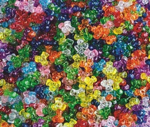 Acrylic Tri Beads - 20gms - 11mm Triangle Mixed Colour