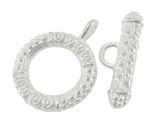 Toggle Clasp Sets: Toggle 17*23mm, Bar 8*23mm - 10 pack Silver