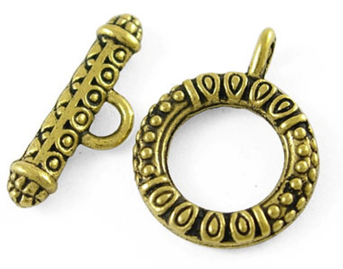 Toggle Clasp Sets: Toggle 17*23mm, Bar 8*23mm - 10 pack Antique  Gold