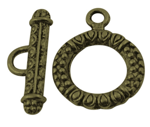 Toggle Clasp Sets: Toggle 17*23mm, Bar 8*23mm - 10 pack Antique  Bronze
