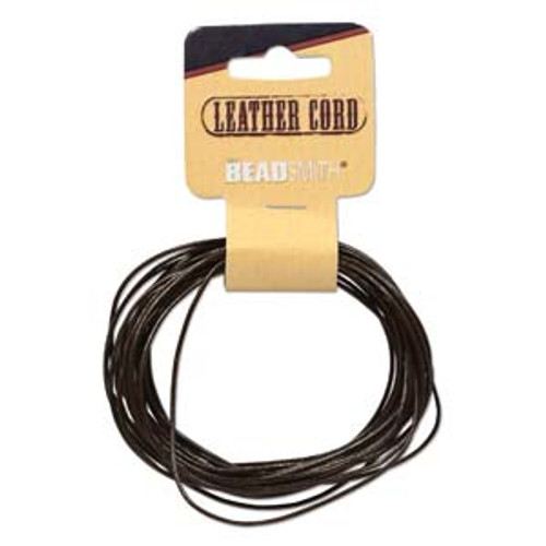 Leather Cord Brown 5 yards - 1mm thick