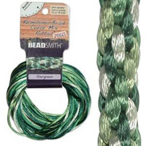 Rattail Mix 1mm Thick - 4 Colours - 3 Yards each (Total 12Yards) Evergreen