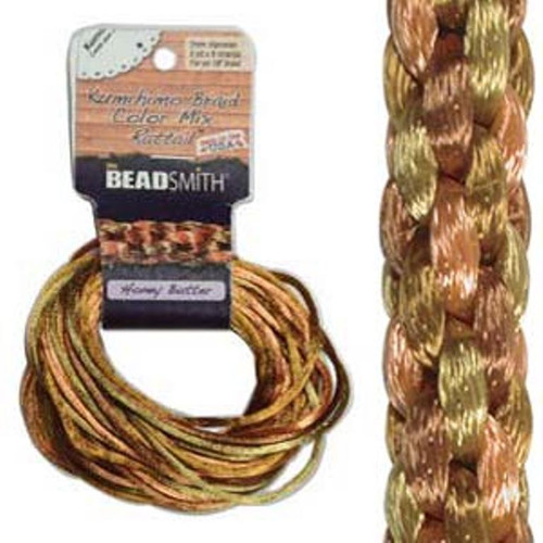 Rattail Mix 1mm Thick - 4 Colours - 3 Yards each (Total 12Yards) Honey Butter