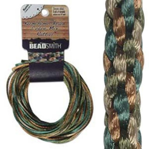 Rattail Mix 1mm Thick - 4 Colours - 3 Yards each (Total 12Yards) Earth Tones