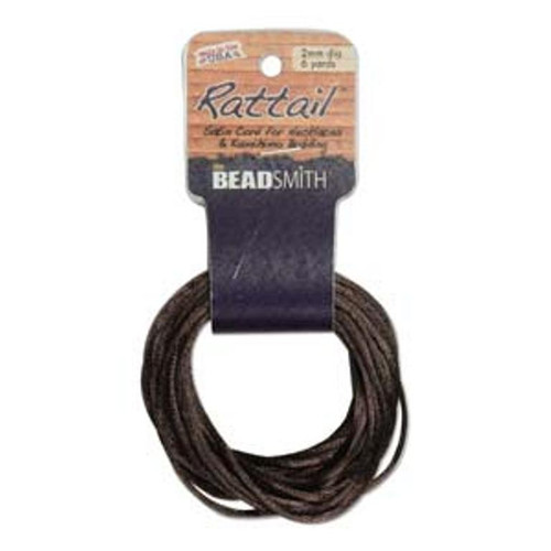 Rattail 1mm Thick - 6 Yards - Medium Brown