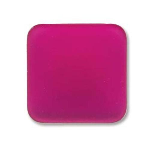 1 x Lunasoft Cabochon Square 17mm Raspberry