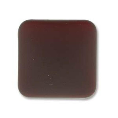 1 x Lunasoft Cabochon Square 17mm Garnet