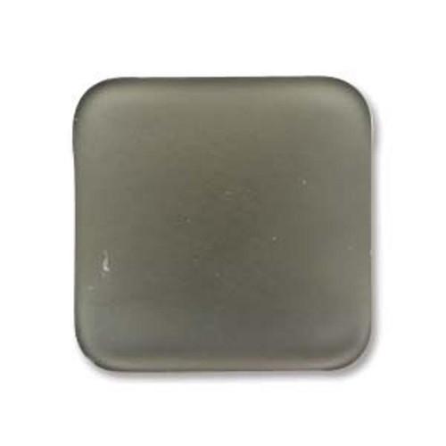 1 x Lunasoft Cabochon Square 17mm Gray