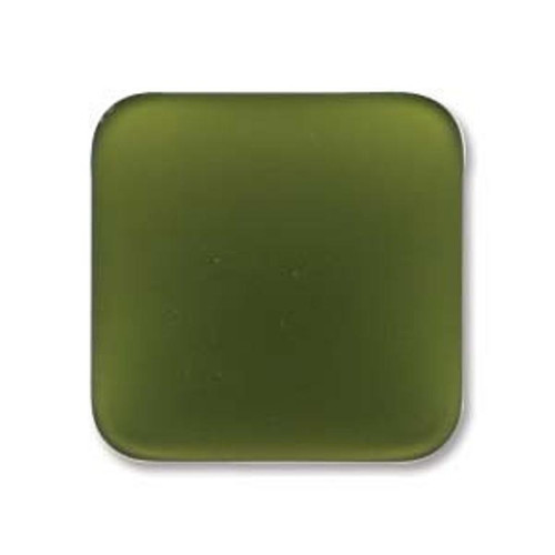1 x Lunasoft Cabochon Square 17mm Olive