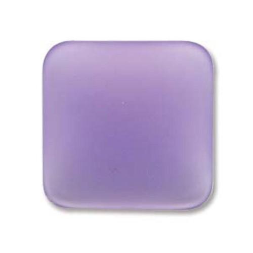 1 x Lunasoft Cabochon Square 22mm Lavender