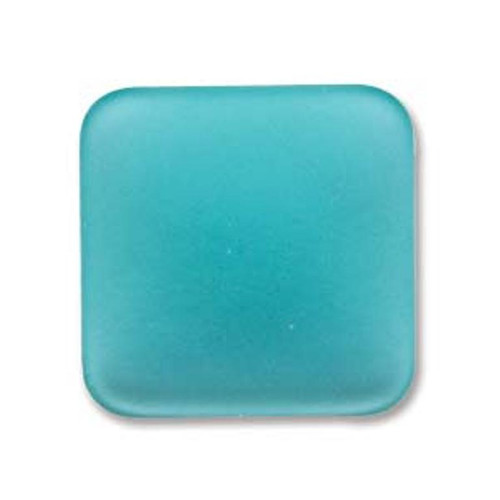 1 x Lunasoft Cabochon Square 22mm Spearmint