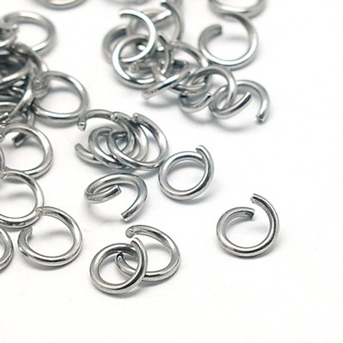 304 Stainless Steel Jumprings, 5x1mm (50gms - approx 550 rings)