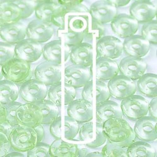 Czech O Beads 3.8mm x 1mm - 8.1gm Vial Peridot (Approx 250 beads)