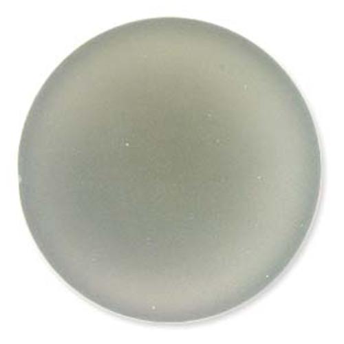 1 x Lunasoft Cabochon Round 24mm grey
