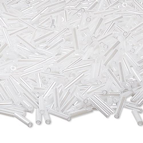 Miyuki Bugle Beads - 9mm x 1.9mm glass - Op Ceylon Pearl White 528 (50gms)