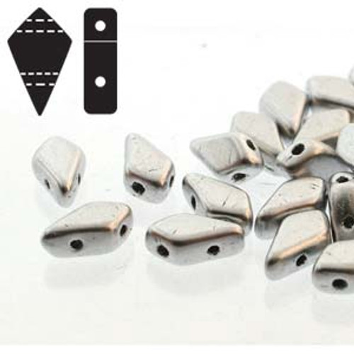 Czech 2 hole Kite beads - 9mm x 5mm - bronze aluminium 20gms - KT9500030-01700