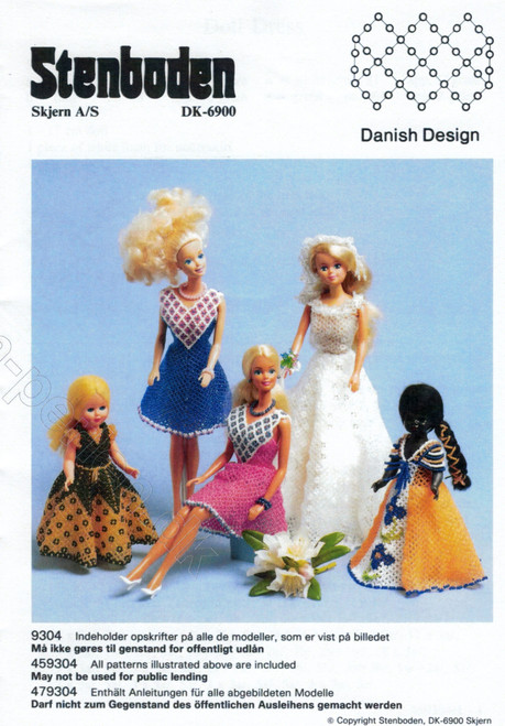 Stenboden's Pattern Book 199304 Dolls dresses (English Instructions)
