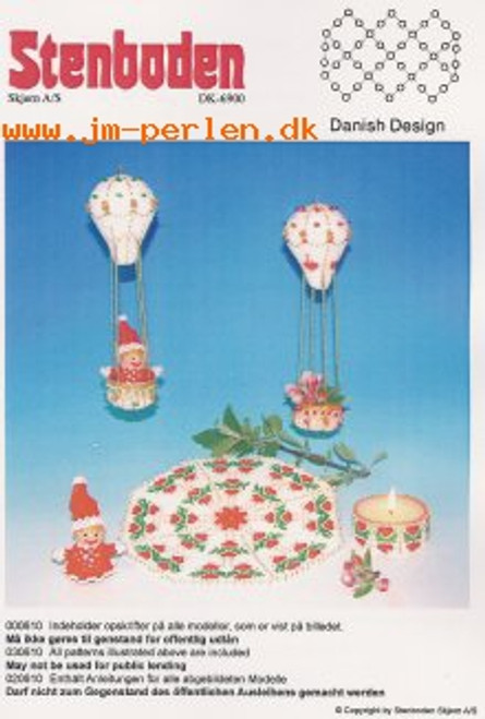 Stenboden's Pattern Book 200610 tablecloth, boy, girl, candle & air ballons (English Instructions)