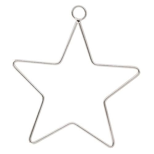 Ornament frame, steel wire 2mm thick, 5-1/2 inch Star. Sold individually